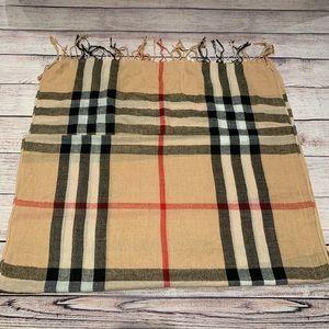 Beautiful tan plaid scarf